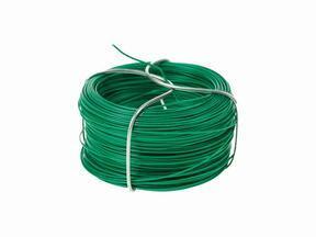 Alambre de atar para seto artificial, plastificado verde 1.2 mm - bobina 25 m