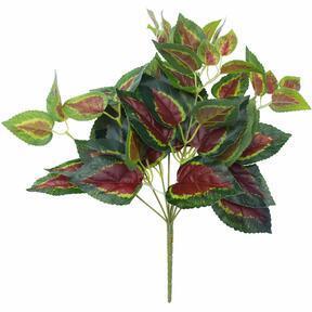 Albahaca artificial roja 45 cm