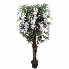 Árbol artificial Wisteria violeta 150 cm