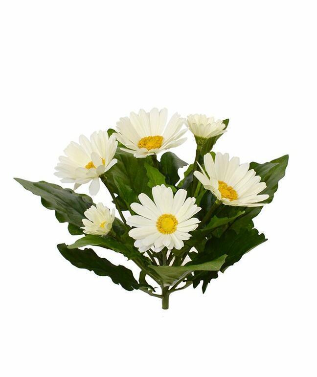 Crema de plantas de gerbera artificial 30 cm
