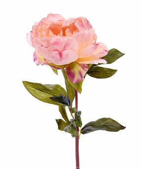 Flor artificial Peonía rosa 55 cm