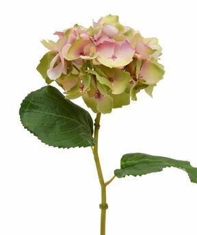 Flor de hortensia artificial rosa 45 cm