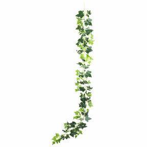 Guirnalda artificial Ivy blanco-verde 190 cm