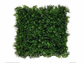 Helecho artificial panel de hoja caduca verde oscuro - 50x50 cm