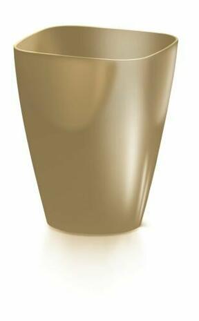 Maceta COUBI ORCHID cuadrado café con leche 13,2 cm