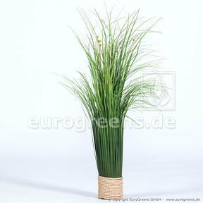 Manojo de hierba con flores artificiales 55 cm