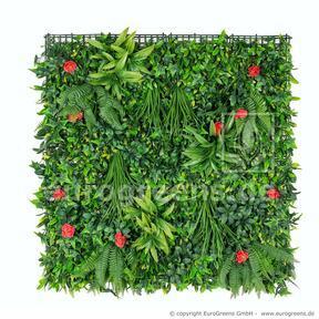 Panel de flores artificiales - 100x100cm