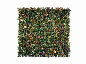 Panel de flores artificiales Buxus multicolor - 50x50 cm