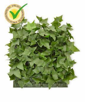 Panel de hojas artificiales Ivy - 25x25cm