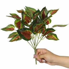 Planta artificial Albahaca roja 25 cm