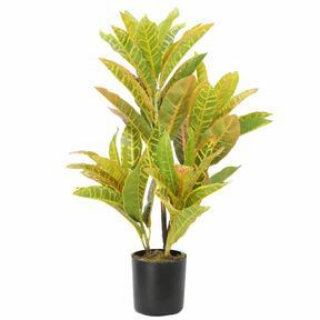 Planta artificial con manchas de croton 55 cm