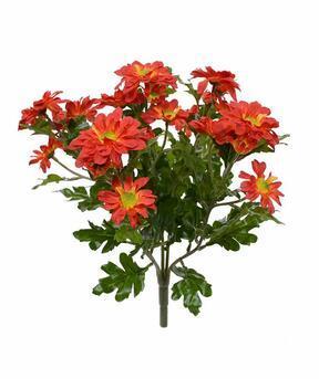 Planta artificial Crisantemo naranja 35 cm