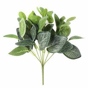 Planta artificial Fitónia blanca 25 cm