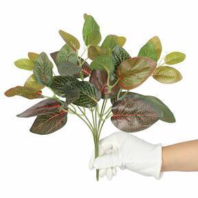 Planta artificial Fitonia roja 25 cm