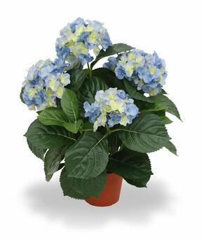 Planta artificial Hortensia azul 45 cm
