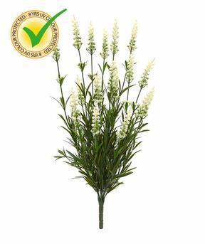 Planta artificial Lavanda blanca 50 cm
