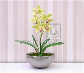Planta artificial Orchidea Cymbidium verde claro 50 cm