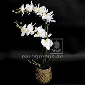 Planta artificial Orquídea blanca 65 cm