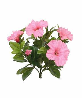 Planta artificial Petunia rosa 25 cm