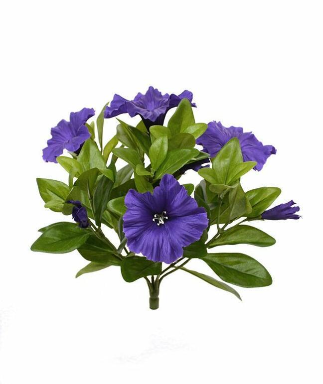 Planta artificial Petunia violeta 25 cm