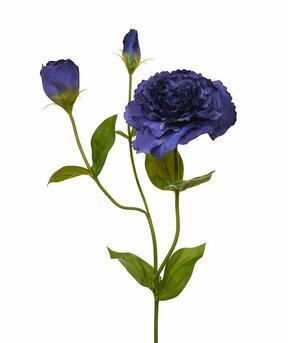 Rama artificial Eustoma azul 80 cm