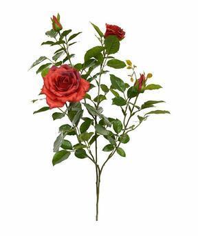 Rama artificial Rosa roja 70 cm