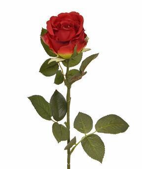 Rama artificial Rosa roja 74 cm