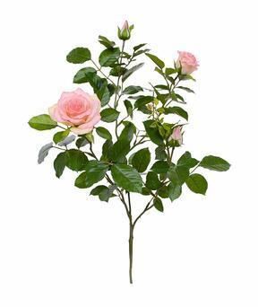 Rama artificial Rosa rosa 70 cm