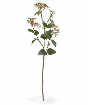 Rama artificial Viburnum laurel rojo 81 cm