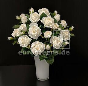 Ramo artificial Crema de rosas 50 cm