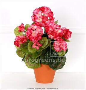Ramo artificial Geranio rosa claro 40 cm
