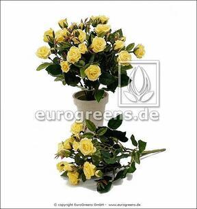 Ramo artificial Rosa amarilla 25 cm