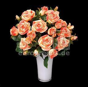 Ramo artificial Rosa rosa-albaricoque 50 cm