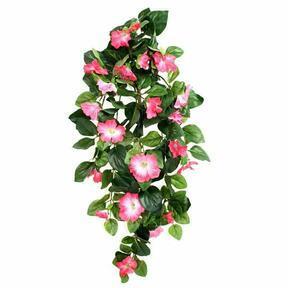 Zarcillo artificial Petunia rosa 80 cm