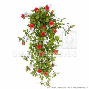 Zarcillo artificial Rosa roja 85 cm