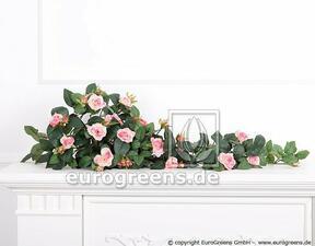 Zarcillo artificial Rosa rosa 70 cm